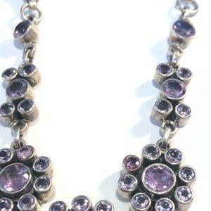 """Jewelry - Sterling Silver Purple  Stone Bracelet, 7.5"""" Long"""